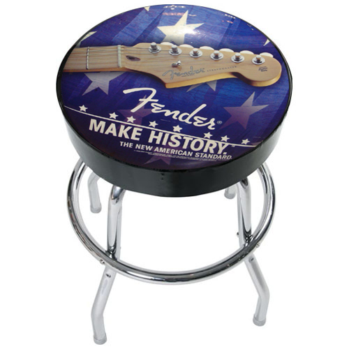 accessoires fender tabouret make history avec t te de guitare lectrique tabouret make history. Black Bedroom Furniture Sets. Home Design Ideas