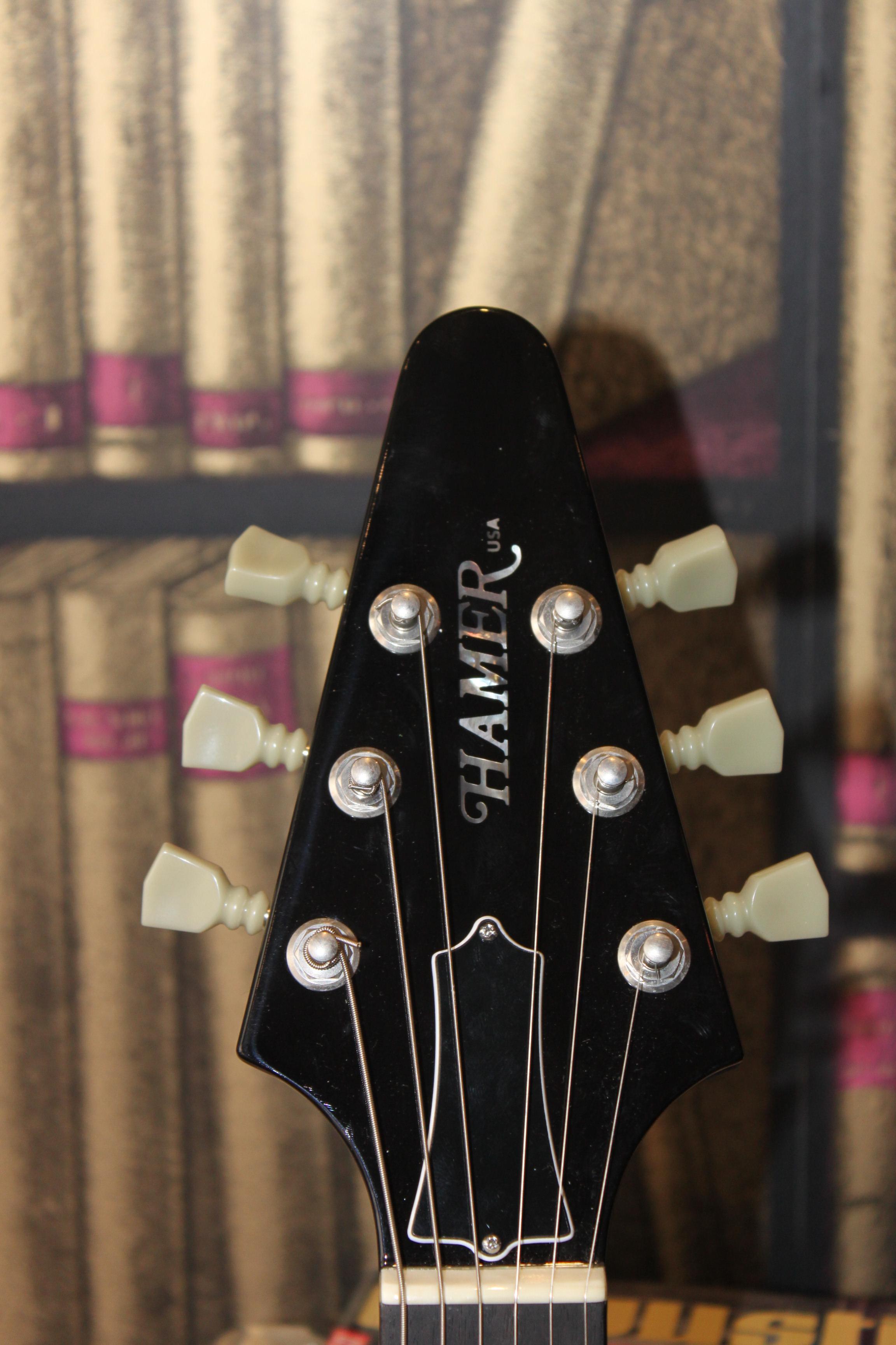Electric Guitars Hamer Korina Vector OCCASION Black