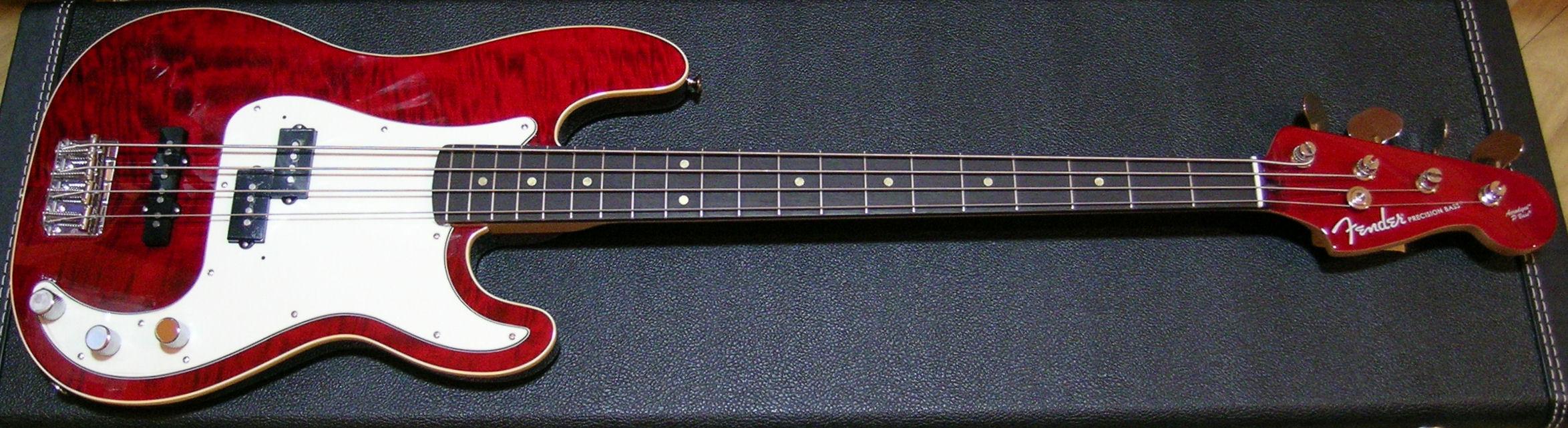 Fender Deluxe Series Aerodyne P Bass Crimson Red Transparent RW